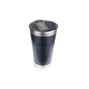 Copo de Cerveja Térmico Inox Azul Com Tampa 473ml – Stanley