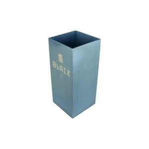 Copo Para Tereré Quadrado Aluminio Azul Bebe 280ml - Black