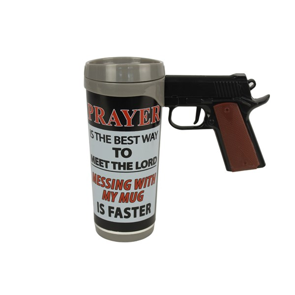 Copo Pistol Mug Prayer is the best Rivers Edge 473ml - Nautika