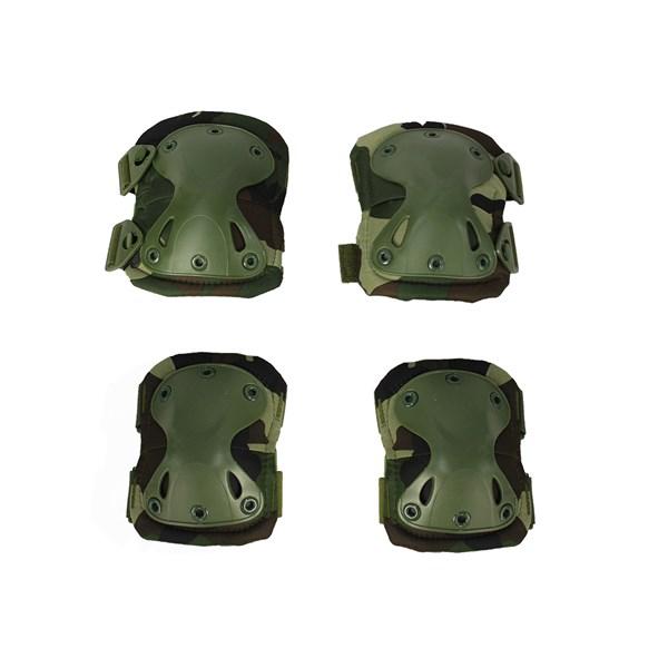 Joelheira e Cotoveleira Heavy Armor Camuflado 4 Peças