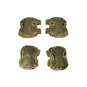 Joelheira e Cotoveleira Heavy Armor Camuflado Multicam 4 Peças
