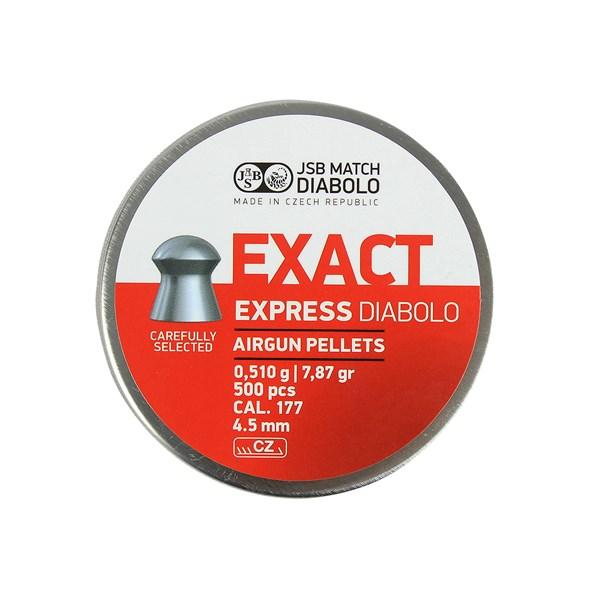 Kit 05 Chumbinho JSB Exact Jumbo Express Diabolo 4.5mm 500un