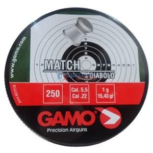 Kit 10 Chumbinhos Gamo Match Diabolo 5.5mm 250un.