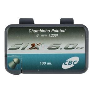 Kit 10 Unidades Chumbinho CBC Pointed Six 6.0mm