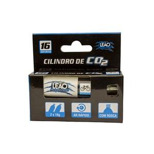 Kit 2 Cilindro Co2 16g para Pneu de Bicicleta - Leão