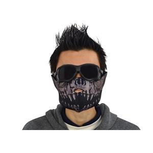 Kit Airsoft Óculos e Máscara Meia Face Predator