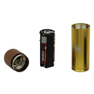 Lanterna Bullet Flashlight Dourada - Nautika