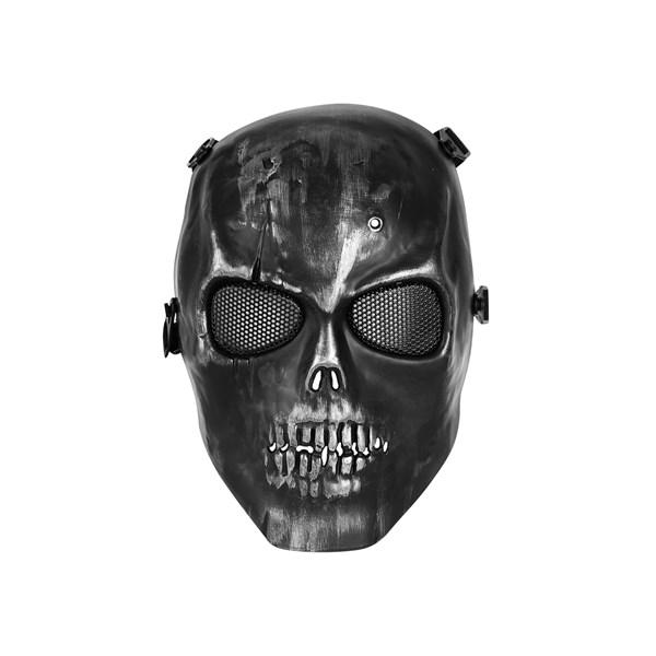 Máscara de Proteção Airsoft Caveira Preta HY-049BK