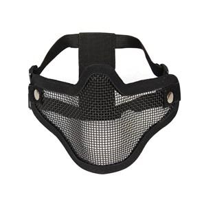 Máscara de Proteção Airsoft Meia Face Preta - Nautika