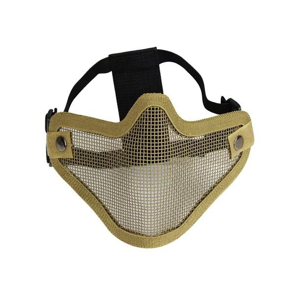 Máscara de Proteção Airsoft Meia Face Tan HY-023TN