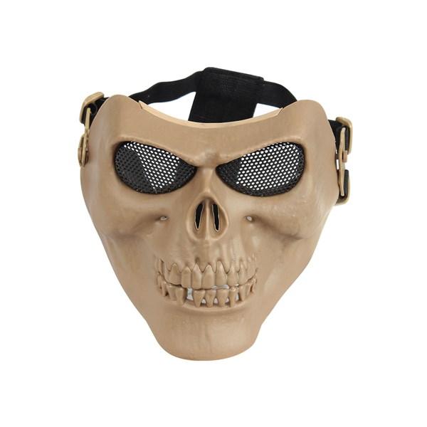 Máscara de Proteção Airsoft QGK Caveira Tan
