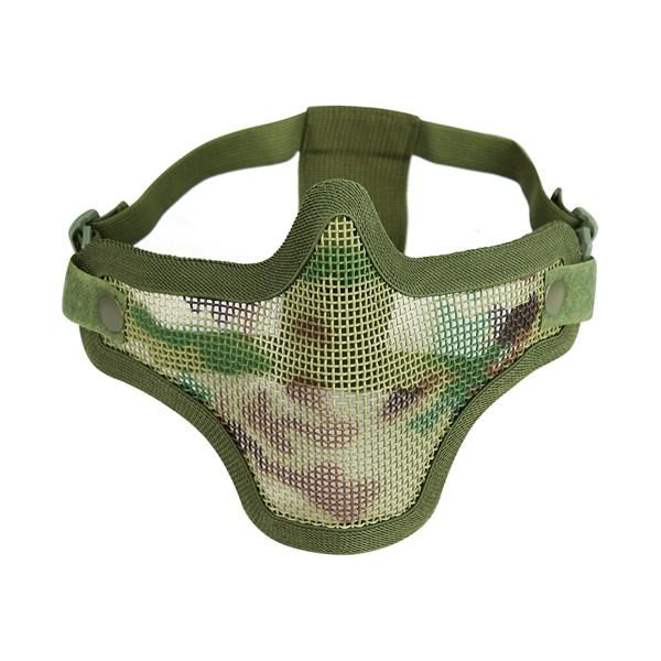 Máscara de Proteção Airsoft QGK Strike Meia Face Multicam