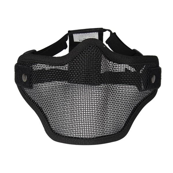 Máscara de Proteção Airsoft Swiss Arms Meia Face Preta