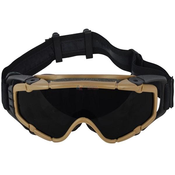 Óculos de Proteção Airsoft com Ventilação Eletrônica FMA TB-885 Marrom
