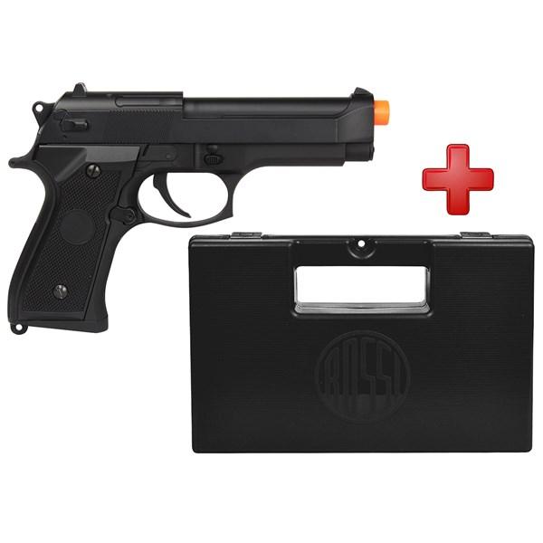 Pistola Airsoft Elétrica Cyma Beretta CM.126 Full Metal Bivolt + Case Maleta