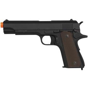 Pistola Airsoft Elétrica Cyma CM.123 Colt 1911 Full Metal Bivolt - ASG