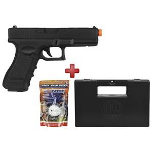 Pistola Airsoft Elétrica Cyma Glock G18C CM.030 Semi-Metal Bivolt + BBs 0.12g