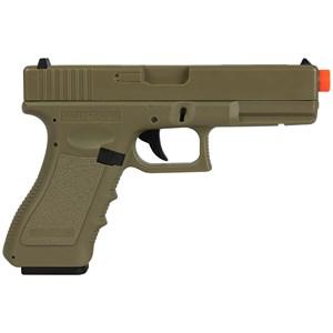 Pistola Airsoft Elétrica Cyma Glock G18C CM.030 Tan Semi-Metal Bivolt