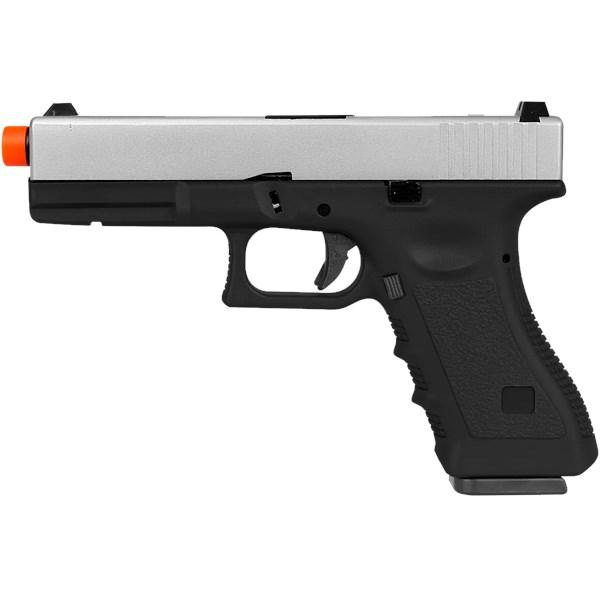 Pistola Airsoft GBB Army Armament Glock R17 Silver Semi-metal