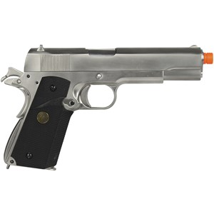 Pistola Airsoft GBB WE 1911 Gen2 Cromada Full Metal