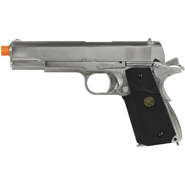 Pistola Airsoft GBB WE 1911 Gen2 Cromada Full Metal