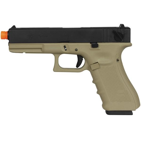 Pistola Airsoft GBB WE Glock G18B Gen4 Tan Semi-metal