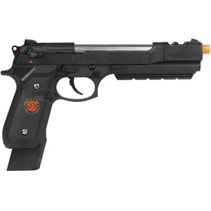 Pistola Airsoft GBB WE M92 Biohazard Barry Burton Black Full Metal