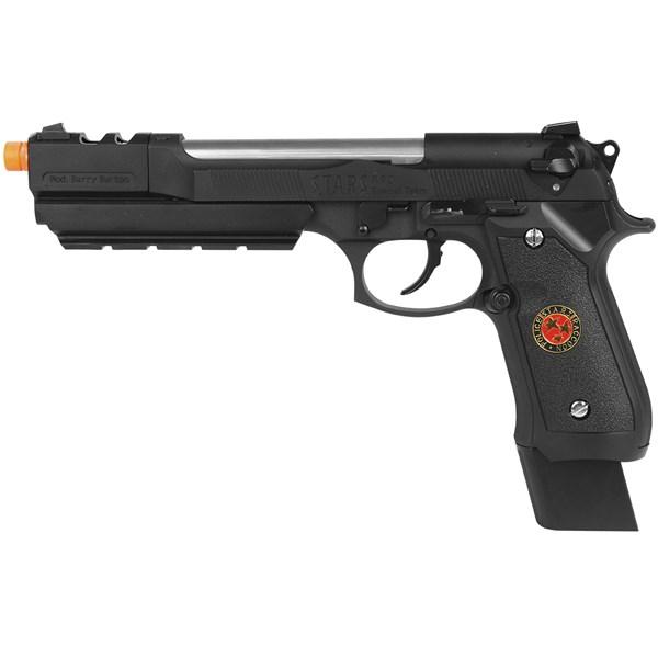 Pistola Airsoft GBB WE M92 Biohazard Barry Burton Black Full Metal