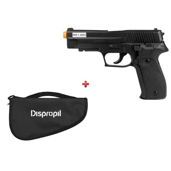 Pistola Airsoft Green Gás Saigo 226 + Capa Simples Dispropil