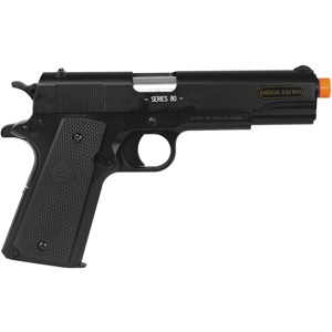 Pistola Airsoft Spring Colt 1911 A1 Slide Metal + BBs BB King 0.12g