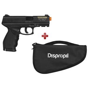 Pistola Airsoft Spring Cybergun Taurus Black 24/7 + BRINDE Capa Simples