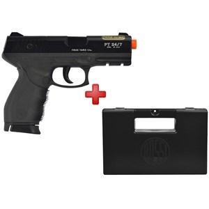Pistola Airsoft Spring Cybergun Taurus Black 24/7 + Case Maleta