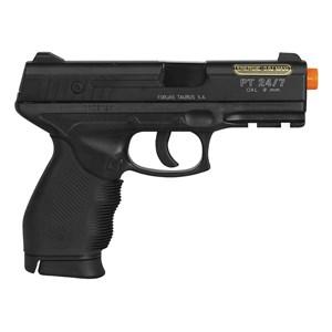 Pistola Airsoft Spring Cybergun Taurus Black 24/7 + Pistola Airsoft Spring Vigor P1918