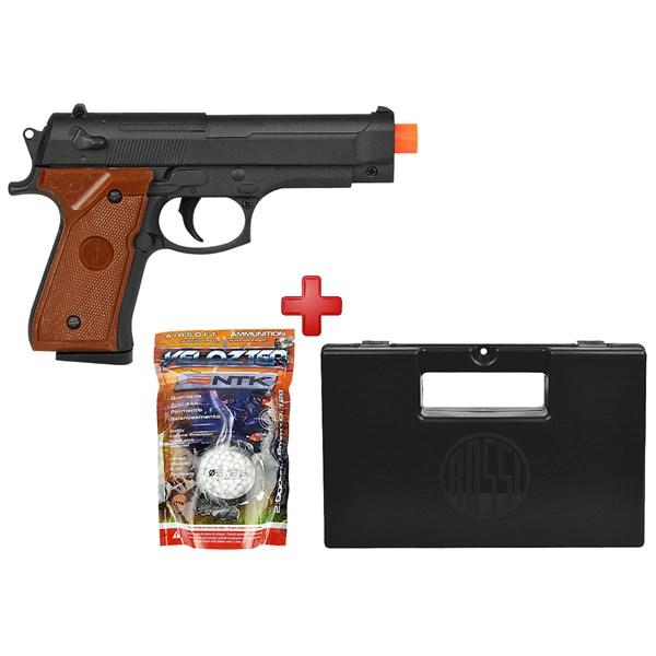 Pistola Airsoft Spring G.22 Compact Full Metal + BBs 0.12g + Maleta