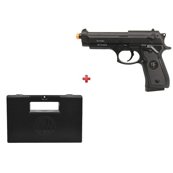 Pistola Airsoft Spring Saigo 92 Full Metal + Maleta Case Rossi