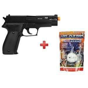 Pistola Airsoft Spring Sig Sauer P226 Slide Metal + BBs Nautika 0.12g