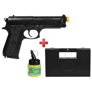 Pistola Airsoft Spring Taurus PT92 + Case Maleta + BBs BB King 0.12g