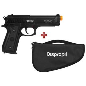 Pistola Airsoft Spring Taurus PT92 Slide Metal + Capa Simples