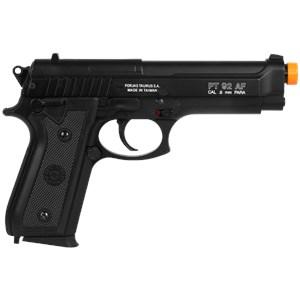 Pistola Airsoft Spring Taurus PT92 Slide Metal + Case Maleta + BBs BB King 0.12g