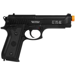 Pistola Airsoft Spring Taurus PT92 Slide Metal + Coldre Neoprene 765