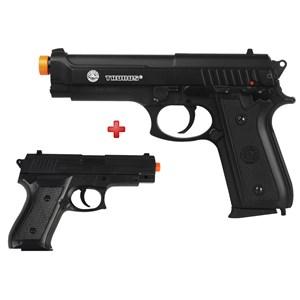 Pistola Airsoft Spring Taurus PT92 Slide Metal + Pistola Airsoft Spring Vigor P1918