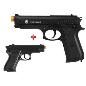 Pistola Airsoft Spring Taurus PT92 Slide Metal + Pistola Airsoft Spring Vigor P99