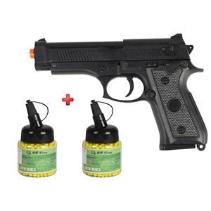 Pistola Airsoft Spring Vigor P92 + 2 BBs Airsoft BB King 0.12g 1000un