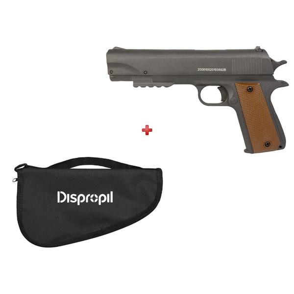 Pistola de Pressão APC QGK Fox 5.5mm + Capa Pistola Simples