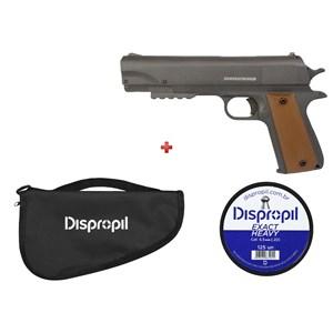 Pistola de Pressão APC QGK Fox 5.5mm + Capa Simples + Chumbo Dispropil 5.5mm