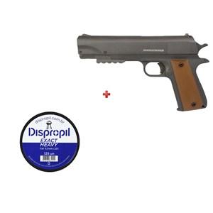 Pistola de Pressão APC QGK Fox 5.5mm + Chumbo Dispropil 5.5mm