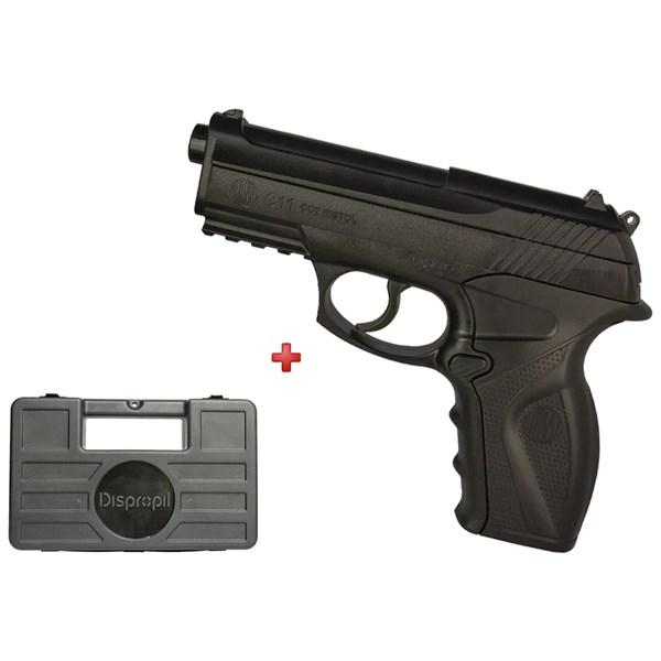 Pistola de Pressão C11 CO2 6mm – Wingun + Case Rígido Dispropil