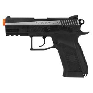 Pistola de Pressão CO2 ASG CZ 75 P-07 Duty Dual Tone Blowback Semi-metal 4.5mm
