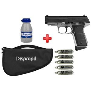 Pistola de Pressão CO2 Daisy 5501 Full Metal 4.5mm + Capa + Cápsula de CO2 + Esferas de Aço 2100un.