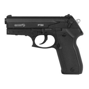 Pistola de Pressão CO2 Gamo PT-80 4.5mm + Esferas de Aço 2100un. + 05 Cápsulas CO2 + Capa Simples